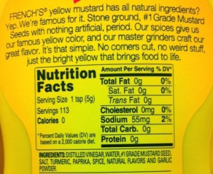 mustard label paleo