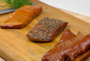 smoked salmon trio cut