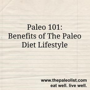 Benefits of Paleo Diet Lifestyle